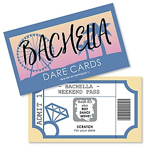 Bachella - Palm Springs Boho Bachelorette Party Game Scratch Off Dare Cards - 22 ct