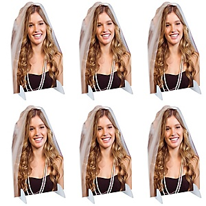 Bachelorette Party Photo Cutout Tabletop Stand - Custom Picture Cut Out Party Centerpieces - Upload 1 Photo - Photo Tabletop Stands - 6 Pieces