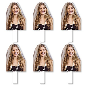 Bachelorette Party Photo Cutout Paddles - Custom Cut Out Photo and Fan Props - Upload 1 Photo - Picture Paddles - 6 Pieces