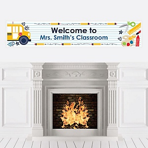 Back to School - Personalized First Day of School Classroom Banner