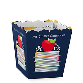 Back to School - Party Mini Favor Boxes - Personalized First Day of School Classroom Decorations and Treat Candy Boxes - Set of 12