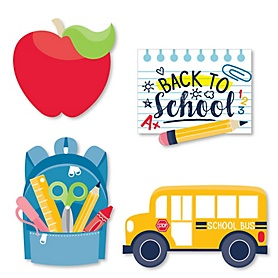 Back to School - DIY Shaped First Day of School Classroom Cut-Outs - 24 ct