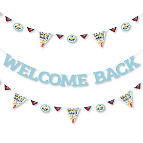 Back to School - First Day of School Classroom Letter Banner Decoration - 36 Banner Cutouts and Welcome Back Banner Letters