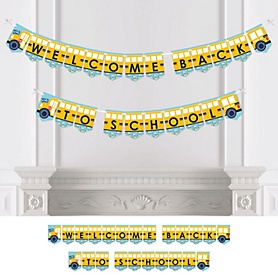 Back to School - First Day of School Classroom Bunting Banner - Party Decorations - Welcome Back to School