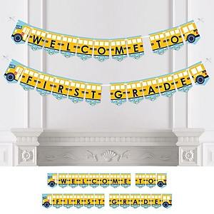 Back to School - Personalized First Day of School Classroom Bunting Banner & Decorations