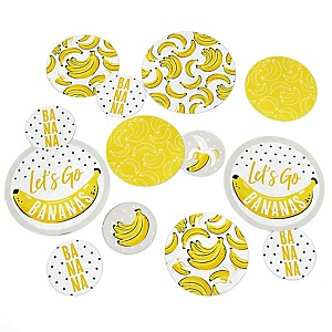 Let's Go Bananas - Tropical Party Giant Circle Confetti - Party Decorations - Large Confetti 27 Count