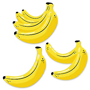 Let's Go Bananas - DIY Shaped Tropical Party Cut-Outs - 24 ct