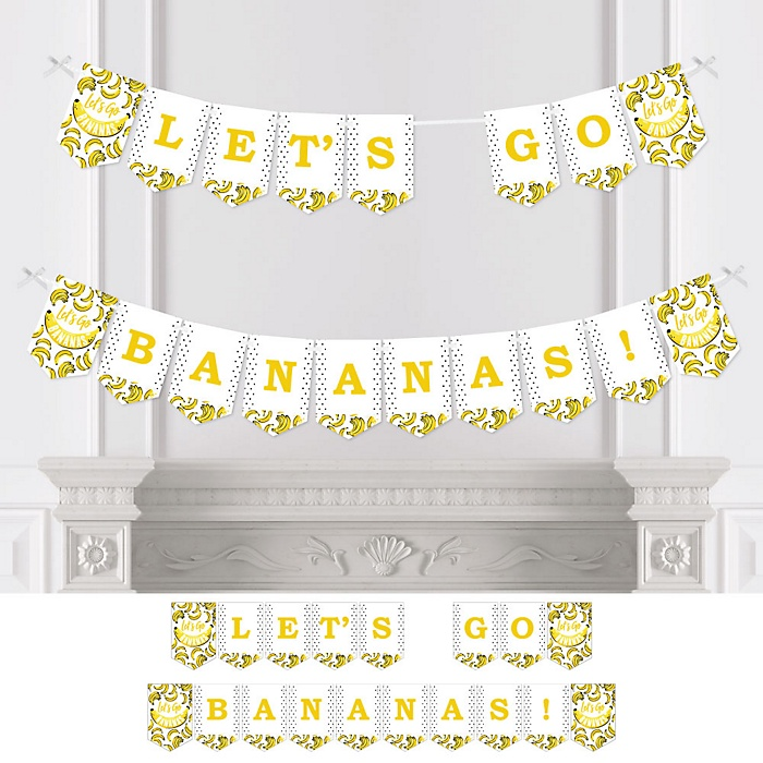 Let's Go Bananas - Tropical Party Bunting Banner - Party Decorations - Let's Go Bananas