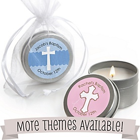 Baptism Personalized Candle Tins
