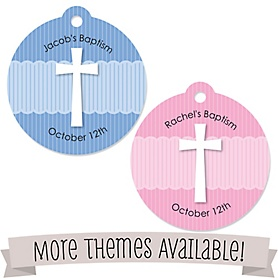 Baptism Favor Stickers and Tags