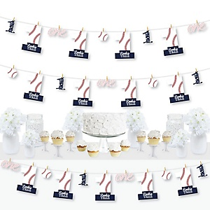 1st Birthday Batter Up - Baseball - First Birthday Party DIY Decorations - Clothespin Garland Banner - 44 Pieces