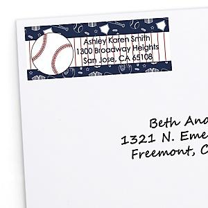 Batter Up - Baseball - Personalized Baby Shower Return Address Labels - 30 ct
