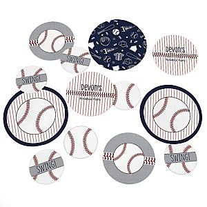 Batter Up - Baseball - Personalized Baby Shower Table Confetti - 27 Count