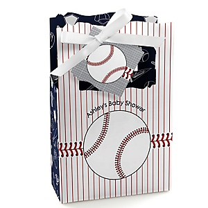Batter Up - Baseball - Personalized Baby Shower Favor Boxes - Set of 12