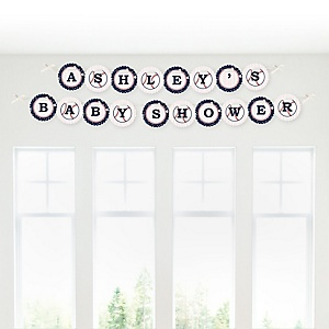 Batter Up - Baseball - Personalized Baby Shower Garland Letter Banners