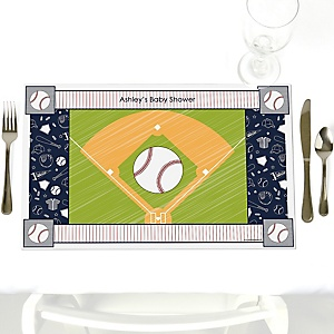 Batter Up - Baseball - Personalized Baby Shower Placemats