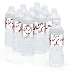 Batter Up - Baseball - Personalized Party Water Bottle Sticker Labels - Set of 10