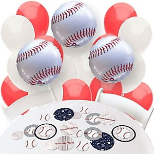 Batter Up - Baseball - Confetti and Balloon Party Decorations - Combo Kit