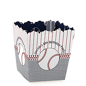 Batter Up - Baseball - Party Mini Favor Boxes - Personalized Birthday Party Treat Candy Boxes - Set of 12