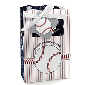 Batter Up - Baseball - Personalized Birthday Party Favor Boxes - Set of 12