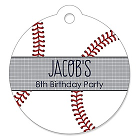 Batter Up - Baseball - Personalized Birthday Party Tags - 20 ct