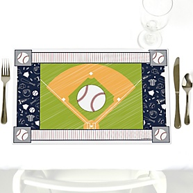 Batter Up - Baseball - Party Table Decorations - Sports Party Placemats - Set of 12