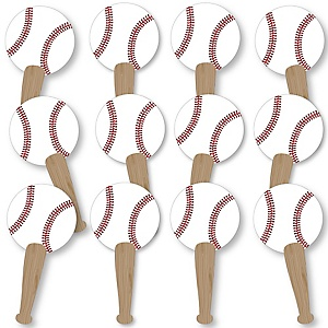 Batter Up - Baseball Fundraising - Spirit Cheer Gear - Fan Sports Swag Paddles - Set of 12