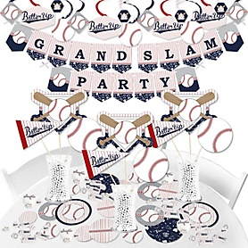 Batter Up - Baseball - Baby Shower or Birthday Party Supplies - Banner Decoration Kit - Fundle Bundle