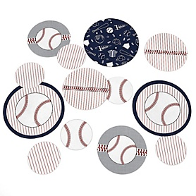 Batter Up - Baseball - Baby Shower or Birthday Party Table Confetti - 27 ct