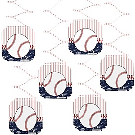 Batter Up - Baseball - Birthday Party Hanging Decorations - 6 ct