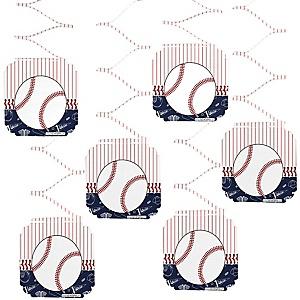 Batter Up - Baseball - Baby Shower Hanging Decorations - 6 ct