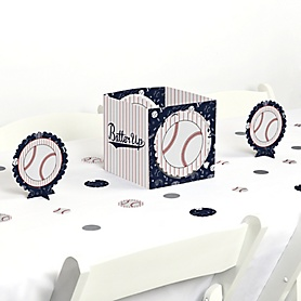 Batter Up - Baseball - Baby Shower or Birthday Party Centerpiece and Table Decoration Kit