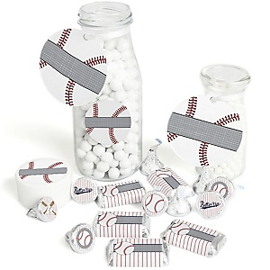 Batter Up - Baseball - Baby Shower or Birthday Party Decorations Favor Kit - Party Stickers & Tags - 172 pcs