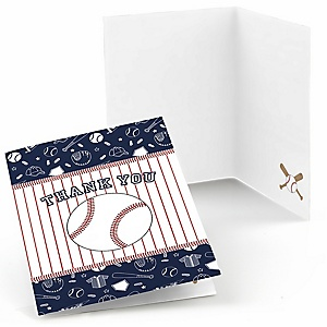 Batter Up - Baseball - Party Thank You Cards - 8 ct