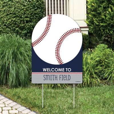 Batter Up   Baseball   Party Decorations   Birthday Party Or Baby Shower  Personalized Welcome Yard Sign