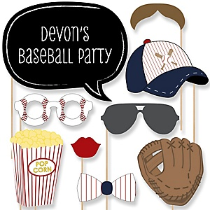 Batter Up - Baseball - Baby Shower Photo Booth Props Kit - 20 Props