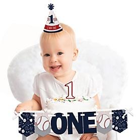 Batter Up - Baseball 1st Birthday - First Birthday Boy Smash Cake Decorating Kit - High Chair Decorations