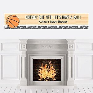 Nothin' But Net - Basketball - Personalized Baby Shower Banners