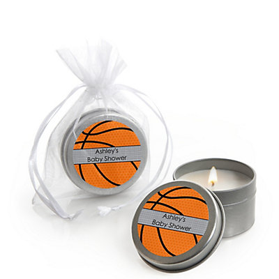 Candle tin personalized baby shower favors bigdotofhappiness nothin but net basketball personalized baby shower candle tin favors set of 12 negle Gallery