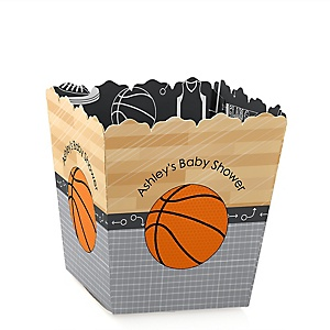 Nothin' But Net - Basketball - Personalized Baby Shower Candy Boxes