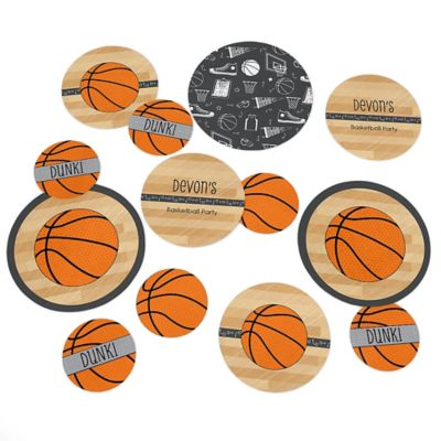 Nothinu0027 But Net   Basketball   Personalized Baby Shower Table Confetti   27  Ct