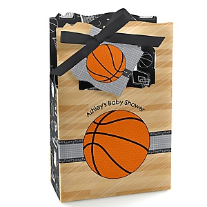 Nothin' But Net - Basketball - Personalized Baby Shower Favor Boxes