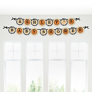 Nothin' But Net - Basketball - Personalized Baby Shower Garland Letter Banners