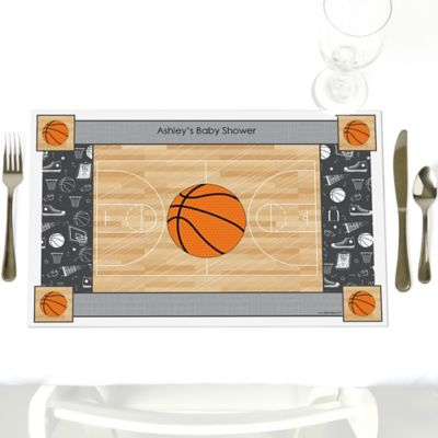 Nothinu0027 But Net   Basketball   Personalized Baby Shower Placemats