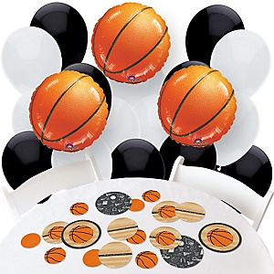 Nothin' But Net - Basketball - Confetti and Balloon Party Decorations - Combo Kit