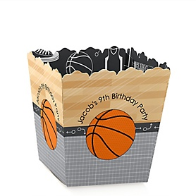 Nothin' But Net - Basketball - Party Mini Favor Boxes - Personalized Birthday Party Treat Candy Boxes - Set of 12