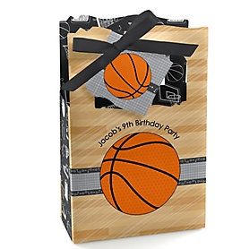 Nothin' But Net - Basketball - Personalized Birthday Party Favor Boxes - Set of 12