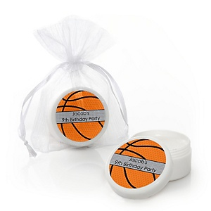 Nothin' But Net - Basketball - Personalized Birthday Party Lip Balm Favors - Set of 12
