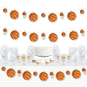 Nothin' But Net - Basketball - Baby Shower or Birthday Party DIY Decorations - Clothespin Garland Banner - 44 Pieces