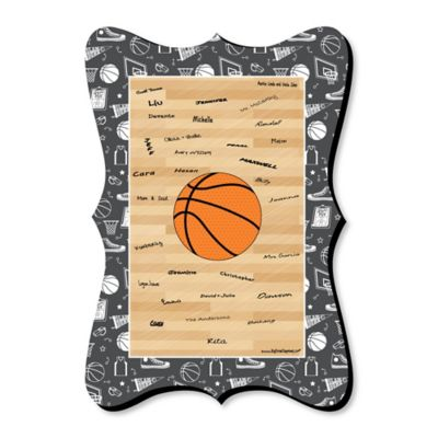 Nothinu0027 But Net   Basketball   Unique Alternative Guest Book   Baby Shower  Or Birthday